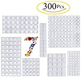 Clear Rubber Feet Bumpers Pads 300 Pieces Self Adhesive...