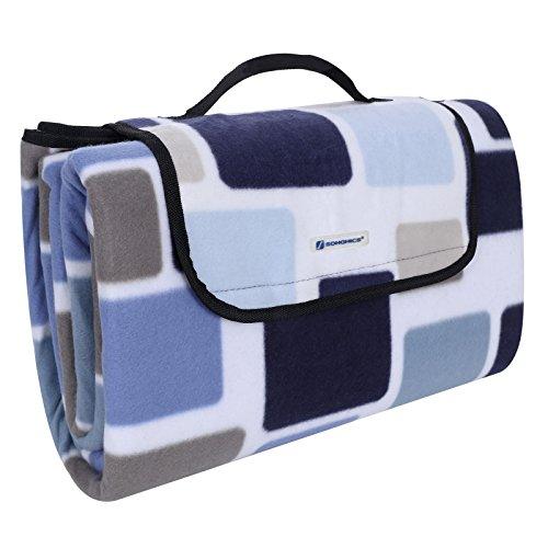 Songmics 200 x 200 cm XXL Picknickdecke Fleece wärmeisoliert wasserdicht mit Tragegriff Farben auswählbar