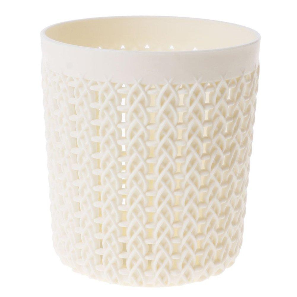 coalesceaihe moda cava in plastica stile rattan portapenne Ufficio materiale contenitore bianco