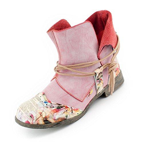TMA SEELENlook Damen-Schuhe > Boots, Schlupf-Stiefel, Echtleder, Farbvarianten, Größen 36-42/43 Altpink
