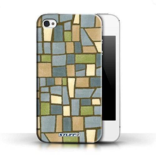 Etui / Coque pour Apple iPhone 4/4S / Vert/Bleu conception / Collection de Carrelage Mosaïque