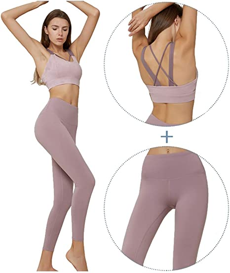 weishenghulian Ropa Deportiva Mujer Conjuntos Fitness Yoga Set ...