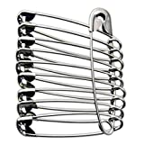 "Set of 100 Extra-Large 1-3/4"" Safety Pins"