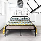 full size bed frame box - GreenForest Full Size Bed Frame with Headboard and Stable Metal Slats Boxspring Replacement Double Platform Mattress Base,Black