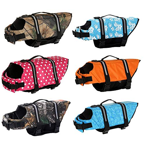 Life Jackets for Dogs - Dog Life Jacket - Dogs Life Jacket - Dog Life Jacket Pet Saver Life Vest Swimming Preserver Dog Puppy Swimwear Surfing Swimming Vest, Sport, Waterproof, Pool. by Flyingpets