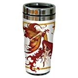 Tree-Free Greetings sg23547 Fantasy Fire Dance Fairy by Amy Brown, Sip 'N Go Stainless Steel Travel Tumbler, 16-Ounce, Multicolored