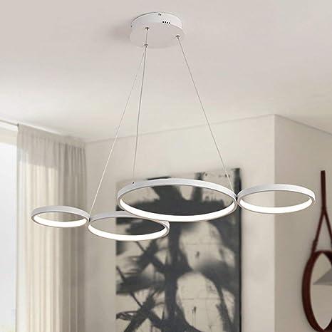 ○ 46W LED Lámpara colgante Moderno Simple Redondo Sala de ...