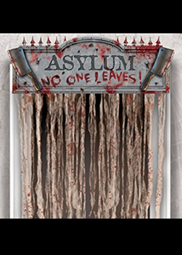 Halloween Bloody Asylum Door Curtain Decoration