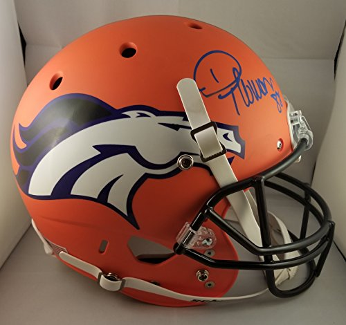 Thomas Autographed Helmet - DeMaryius Thomas Autographed Signed Full Size Helmet Denver Broncos Super Bowl Champions JSA