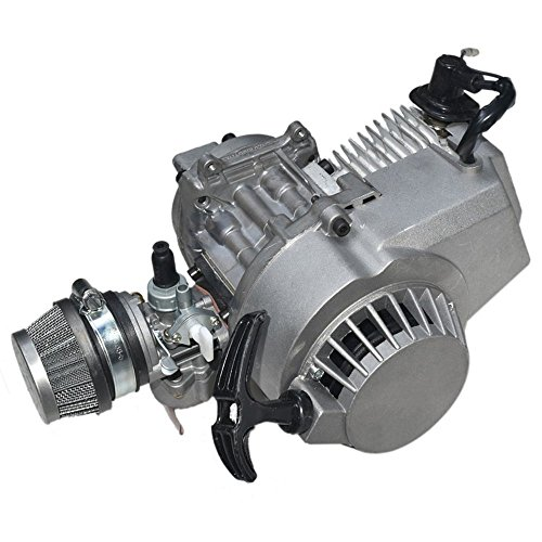 ZXTDR 49cc 2 stroke Engine Motor for Mini Pocket Bike Scooter Dirt Bikes ATV Quad Motorized Bicycle