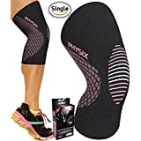 Knee Support Compression Sleeve for Men Women & Kids, Best Flexi Brace for Sports, Squats, Crossfit, Jogging, Joint Pain Relief, Walking, Hiking, Circulation, Arthritis & Injury Recovery - Single Wrap