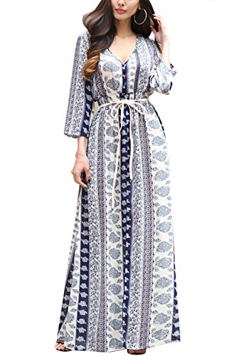 Ruiyige Woman Evening Gown Flaming Exotic Ethnic Dress Cocktail Party Holiday Ball Gala Prom for Bridesmaid Blue XXL