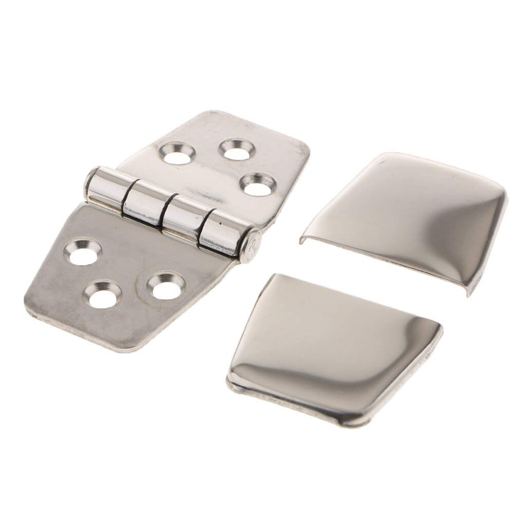 Greater Corrosion Resistance Marine Grade Boat Hinges Strap Hinges with Cover 1.5 x 3.0 inch Stainless Steel Door Hinge