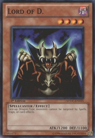 (Yu-Gi-Oh! - Lord of D. (SDDC-EN015) - Structure Deck: Dragons Collide - 1st Edition - Common)