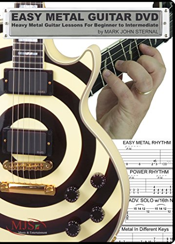EASY METAL GUITAR DVD - Heavy Metal Guitar Lessons For Beginner through Intermediate (Guitar Solos Slide)