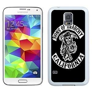 NEW Unique Custom Designed Samsung Galaxy S5 I9600 G900a G900v G900p G900t G900w Phone Case With Sons Of Anarchy California TV Series_White Phone Case wangjiang maoyi