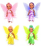 Fairy Tale Dolls 3 Piece Set African American, Party Favor, Gift Sets, Cake Toppers