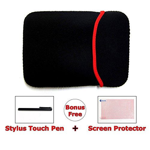 Ramtech Neoprene Carrying Bag Case Cover For Rand McNally TND Tablet 80 GPS TNDT80 + Bonus Free Stylus Pen & Screen Protector - NC8