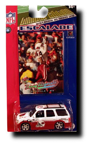 Larry Fitzgerald Arizona Cardinals NFL Football Team Cadillac Escalade SUV Truck Fleer Collectibles Diecast Scale Toy w/Player Trading Card
