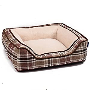 BOPET Pet Bed Snooze Mat for Pets Cats Dogs for Travel or Home Square Shaped Red Comfortable Beige 85%OFF
