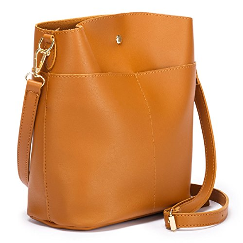 ADVANOVA Mother's Day Gift for Women Leather Purses Handbags Bucket Tote Shoulder Bag - Tote Bucket Shoulder Bag