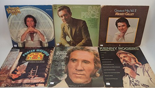Country Music Lot of 6 Vinyl Record Albums Kenny Rogers, Mickey Gilley and more ()