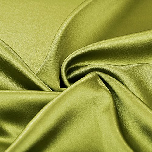 Evening Stretch Olive Green Silk Like Dropped Satin Length Adorona Dress Floor z0aHdqxHw