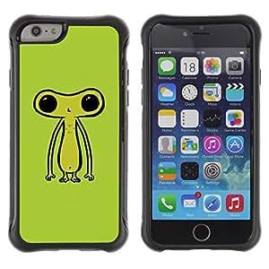 "Pulsar iFace Series Tpu silicona Carcasa Funda Case para Apple iPhone 6+ Plus(5.5 inches) , Ufo extraterrestre Ser verde lindo"""