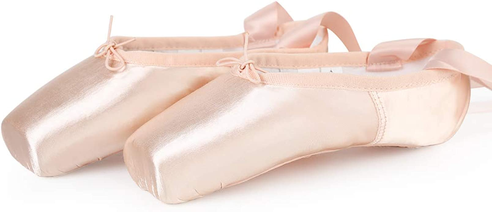 Ballet Pointe Shoes Satin Professional Dance Shoes with Silicone ...