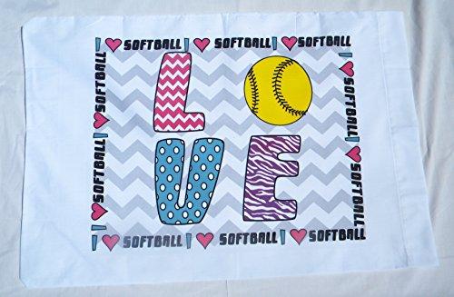 Bunnies and Bows Love Softball Standard ()