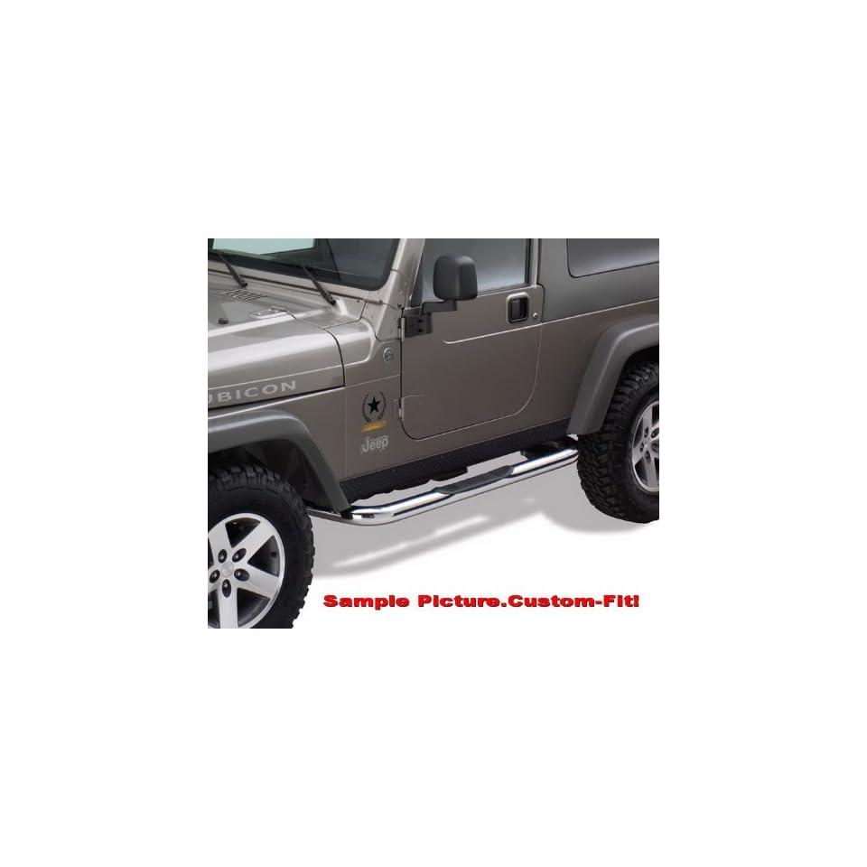 MaxMate Premium Custom Fit 2007 2015 Jeep Wrangler JK 2 Door 3 Side Armor Step Nerf Bars Stainless Steel Running Boards