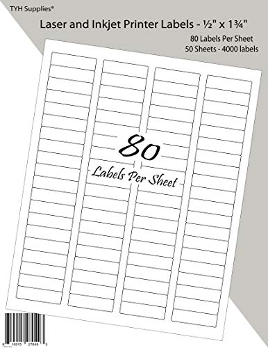 TYH Supplies Address Labels 0.5