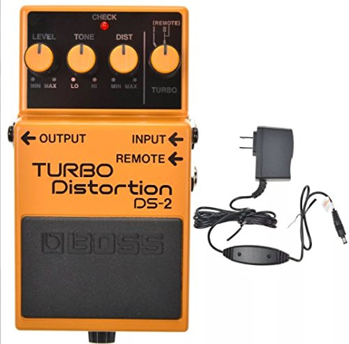 Boss DS-2 Turbo Distortion and Boss PSA-120S2 Power Supply