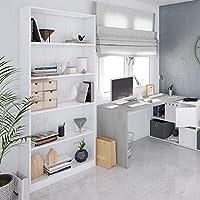color blanco artik 80 cm alto x 201 cm x 28 cm ancho Habitdesign 005626A Estanter/ía de oficina alta Stylus fondo