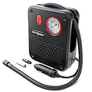 Bomba compresora de aire portátil Hi-Spec 12 V DC para encendedor de cigarrillos de coche ...