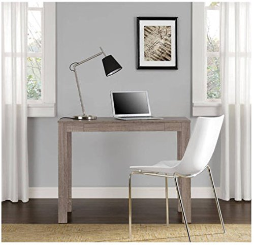 NEW Parsons Desk with Drawer, Multiple Colors (Distressed Oak) by Mainstay