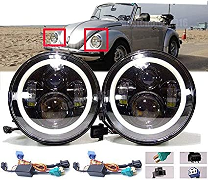 """7X6/"""" 5X7/"""" 120W CREE LED Headlight Hi//Lo Beam DRL Sealed 5D Projector For Ford US"""