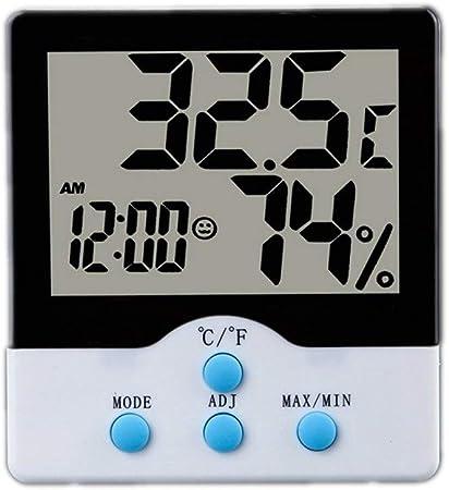 AILI Relojes meteorológicos Termómetro Digital LCD Higrómetro Temperatura electrónica Medidor de Humedad Hogar Reloj Despertador Cocina Estación meteorológica Interior Relojes meteorológicos: Amazon.es: Hogar