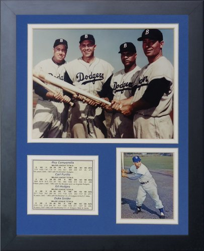 50 Engraved Cards - Legends Never Die Brooklyn Dodgers 50's Big Four Framed Photo Collage, 11 by 14-Inch