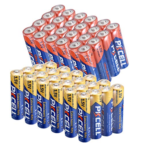 24 Pack AA 1.5V Alkaline Batteries + 24 Pack AAA 1.5V Extra Heavy Duty Batteries (48 Combo Pack)