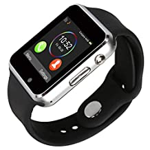 Kivors Bluetooth Smart Watch with Sim Card Slot GSM Sport Watch Activity Tracker Pedometer Smart Health Wrist Watch Phone For Android IOS Mobile Phone (Black)