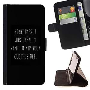 Momo Phone Case / Flip Funda de Cuero Case Cover - Noir Blanc Vous Texte Hot - HTC One A9