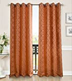 RT Designers Collection Lenny 54 x 90 in. Grommet Curtain Panel, Terracotta Review