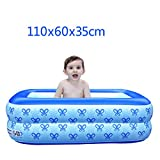 Hyun times Bath home inflatable blue 110 60 35cm thick folded plastic child bath pool