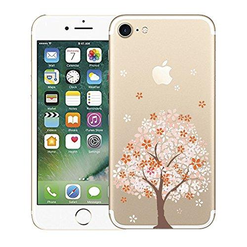 "Vanki® iPhone 7 Funda, Carcasa Serie volar Sakura iPhone 7 Case Cover Silicona Suave Funda para Apple iPhone 7 4.7"" 5"