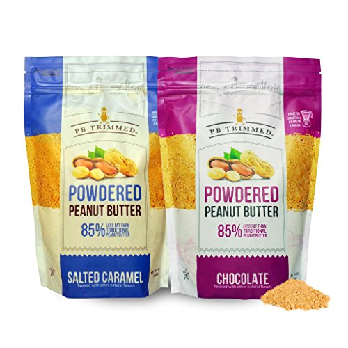 eabc2f3a0b45 PB Trimmed Powdered Peanut Butter 16 oz Container (2-Pack Bundle) 1 SALTED  CARAMEL (16 oz) + 1 CHOCOLATE (16 oz)