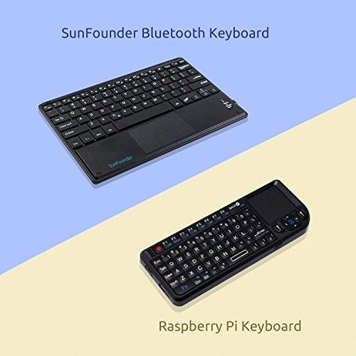 SunFounder Ultra Slim Bluetooth Keyboard - Portable Wireless