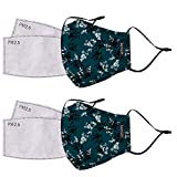 kensie Women's 2 Piece Face Mask Set, Teal
