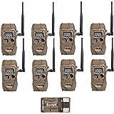 Cuddeback CuddeLink J Series Long Range IR Trail Camera (8 Pack) | 20 Megapixels | Built-In Wireless Network