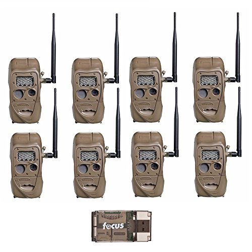 Cuddeback CuddeLink J Series Long Range IR Trail Camera (8 Pack) | 20 Megapixels | Built-in Wireless Network
